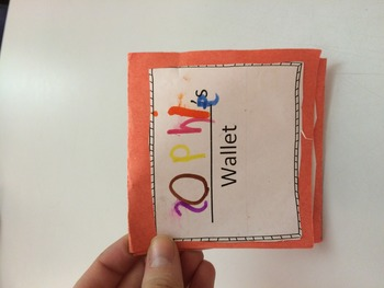 "Coin Recognition Student ""Wallets"" and Interactive Notes for Math Journals"