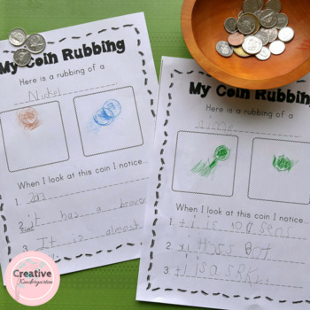 Coin Rubbings Worksheets