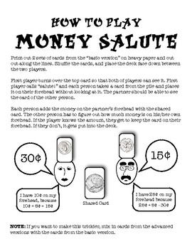 Coin Salute: Easy Setup to Practice Coin Identification and Operations