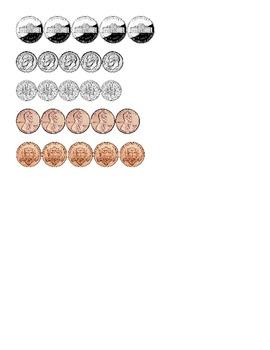 Coin Sort File Folder