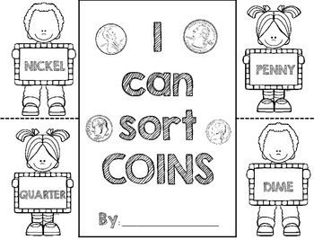 Coin Sorting Flip Book - Identify and Sort Coins
