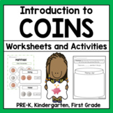 Identifying Coins Math Worksheets and Activities with Coins Chart