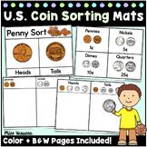 Printable US Coin Sorting Mats & Activities