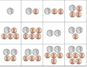 Coin Subitizing Flash Cards