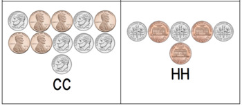 Coin Task Cards (Pennies & Dimes Only)