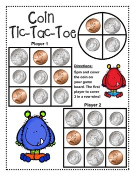 Coin Tic-Tac-Toe Game