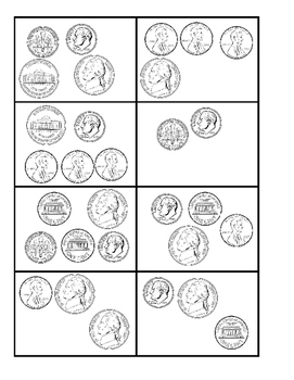 Coin Top-It (Pennies, Nickels, and Dimes)