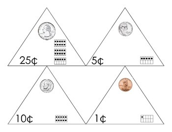 Coin Triangle Flash Cards
