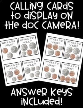 Coin Value BINGO! 32 Cards! Practice Basic Coin Values in a FUN Way!