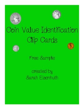 Coin Value Identification Clip Cards