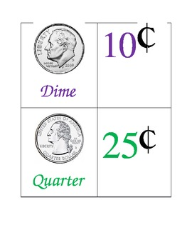 Coin Value Memory Game