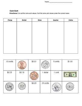 Coin Value Sort