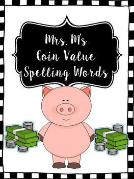 Coin Value Spelling Words