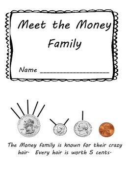 Coin Values & Counting Mini Book and Worksheet: Hairy Money Method