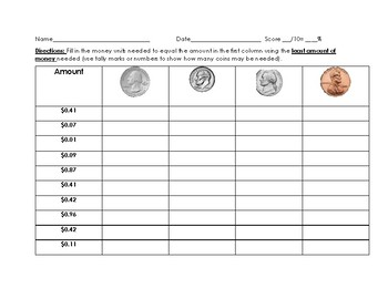 Coin Visuals to assist with counting money