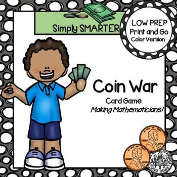 Coin War:  LOW PREP U.S. Coin Comparison Card Game