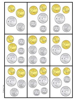Coin War Money Game with Australian Coins