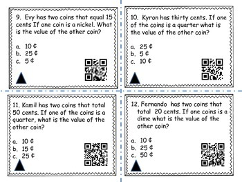 Coin Word Problems (QR codes)