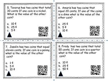 Coin Word Problems (QR codes)