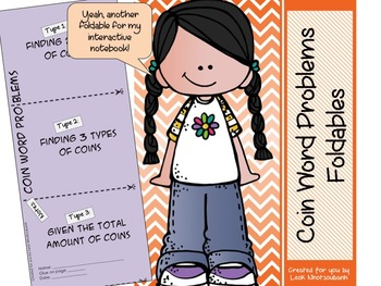 Coin Word Problems Foldable