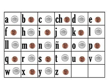 Coin Words - Spanish Syllables (Palabras con monedas)