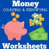 Money Worksheets | Kindergarten 1st Grade | Counting Ident