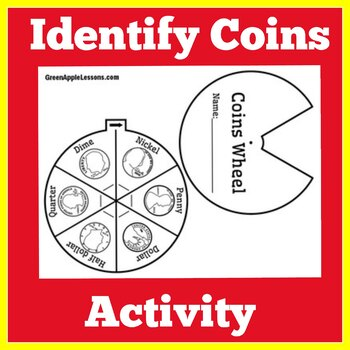 Identifying Coins Worksheet | Coins Craft | Coins Activity