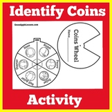 Identifying Coins Worksheet Activity