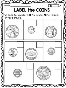 money worksheets for kindergarten and first grade by dana 39 s wonderland. Black Bedroom Furniture Sets. Home Design Ideas