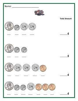 Math: Coins - Adding up Coins - Common Core