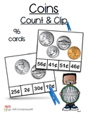 Coin Values & Counting Change - Count and Clip