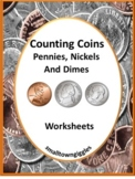 Counting Coins Worksheets, Quarters Dimes Nickels Pennies Cut & Paste Activities