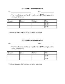 Coins Exit Ticket