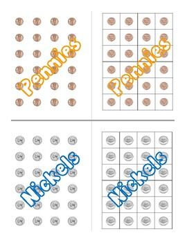Coins (Front and Back) Quarters, Dimes, Nickels, Penny, Pennies - Manipulatives