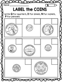 Money Worksheets: Identifying Coins