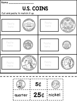 money worksheets identifying coins by dana 39 s wonderland tpt. Black Bedroom Furniture Sets. Home Design Ideas