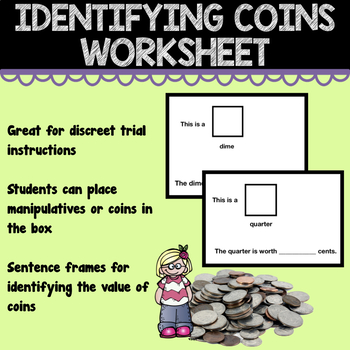 Coins Identification Worksheet
