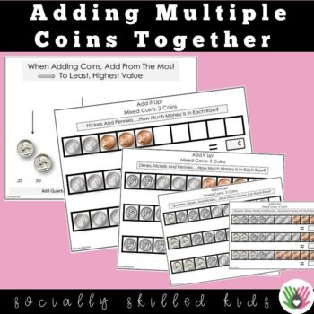 Adding/Counting Coins {Printable Worksheets For Building Automaticity}