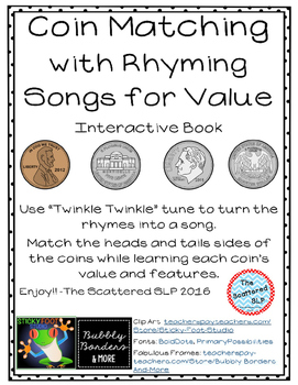 Coins Interactive Rhyming and Song book for Value and Description