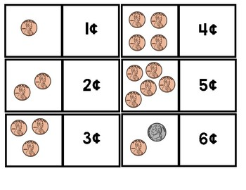 Coins Matching Cards