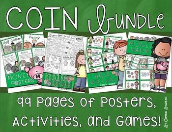 Coins Money Activities Games Posters Ultimate Bundle