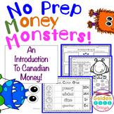 Coins & Money Canadian!  NO PREP Printables For Grades K, 1 & 2