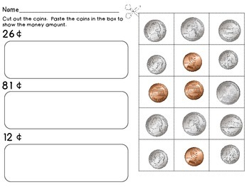 Coins / Money - Math Money Center, Money Unit, Summer Packet
