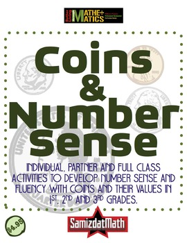 Number Sense using Coins for First, Second and Third Grades