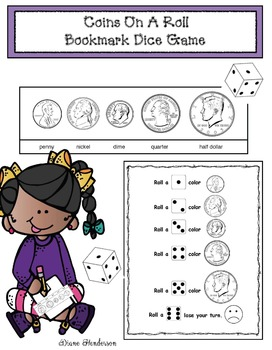 Coins On A Roll: Bookmark Dice Game