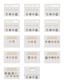 Coins - Pennies, Nickels, Dimes, and Quarters