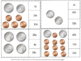 Coins: Pennies, Nickels and Dimes Count and Clip Cards