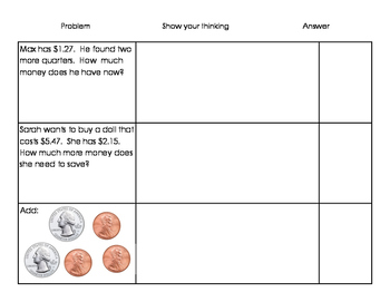 Coins Practice Math Stations