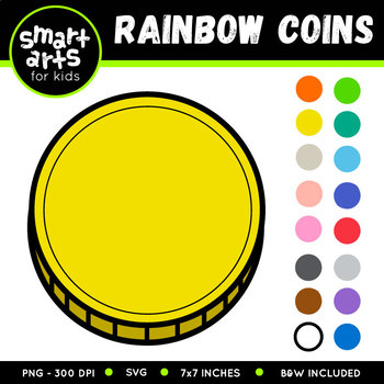 Coins Rainbow Clip Art