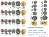 Coins - Student Desktags & Coin Combo Activity